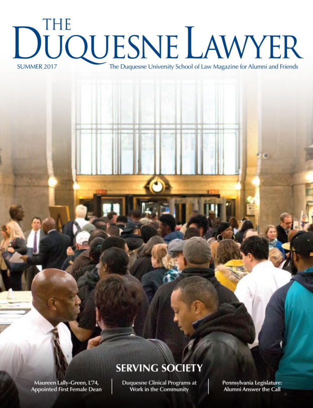 Cover of Summer 2017 issue of Duquesne Lawyer magazine
