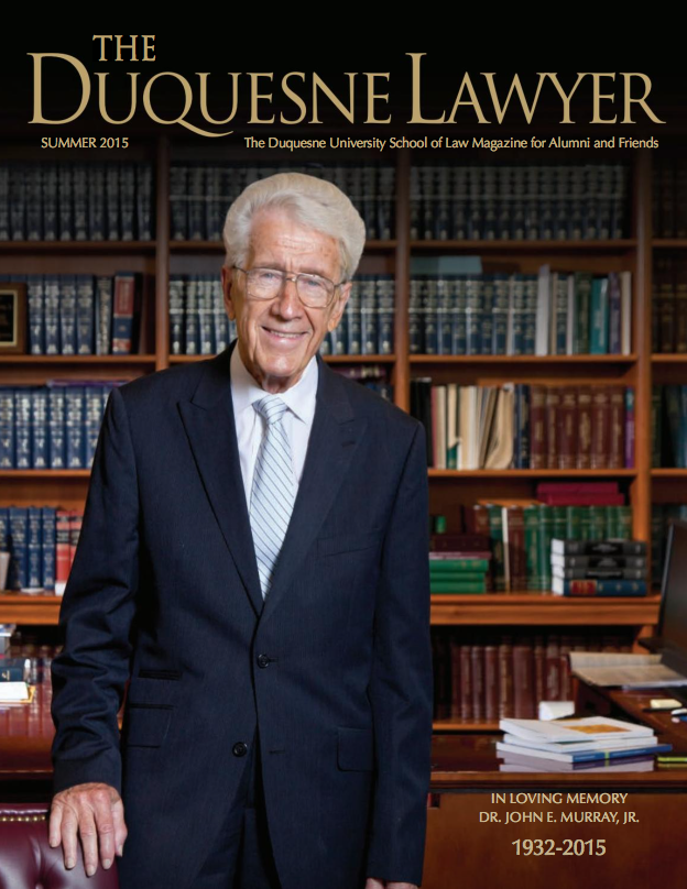 Cover of Summer 2015 Issue of Duquesne Lawyer magazine